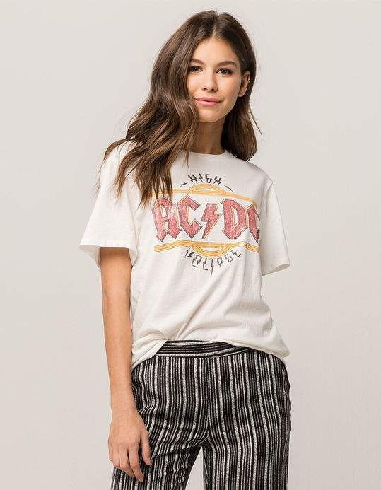 Acdc Womens Band Tee White 319094150 Womens Band Tees Band Tees Acdc Outfit