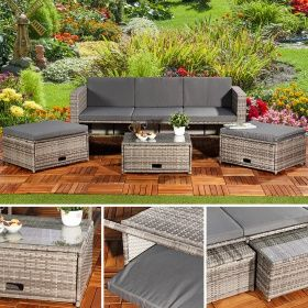 Mucola Polyrattan Garnitur Lounge Set Sitzmöbel Grau | Mucola GmbH