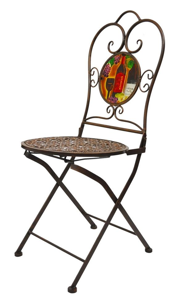 Folding Bistro Wines Armless Chair