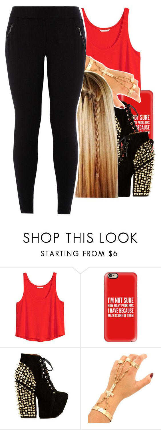 """going out tonight✨"" by jchristina ❤ liked on Polyvore featuring interior, interiors, interior design, home, home decor, interior decorating, H&M, Casetify, Jeffrey Campbell and New Look"