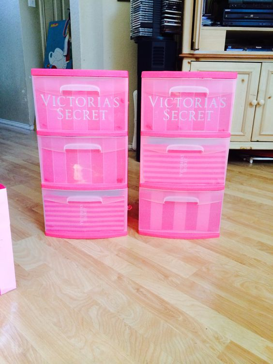 Victoria Secret Bags Used To Make Bins For College Diy