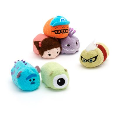 Disney's Monsters Inc characters are cuter than ever in our mini Tsum Tsum bundle. Already a hit in Japan, our stackable Mike, Sulley, Randall, Boo, Roz and Fungus soft toys are now here in mini form! Europe release July 2016.
