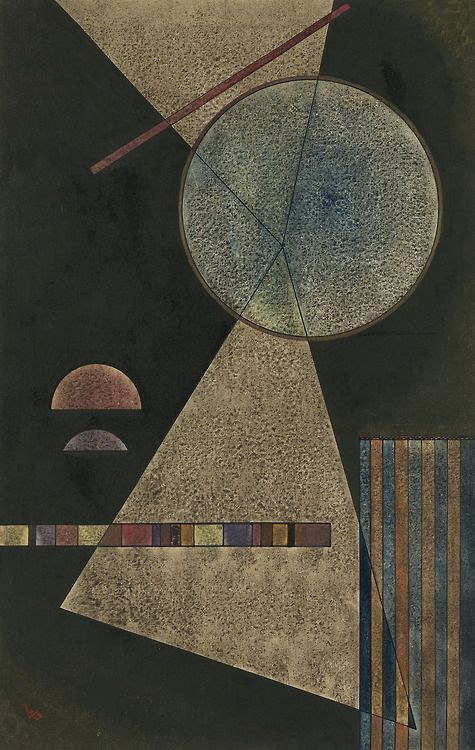 Meeting-Point,1928,by Wassily Kandinsky