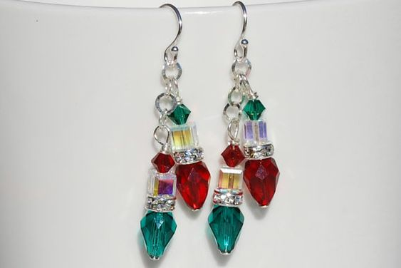 Christmas ornament, Earrings and Sterling silver on Pinterest