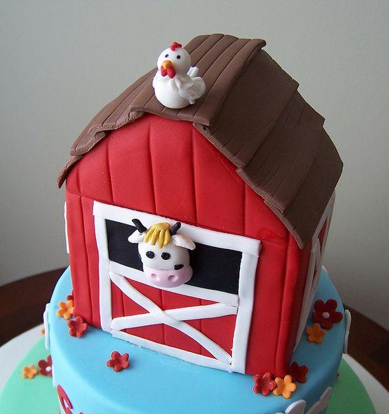 Barn cake by cakespace - Beth (Chantilly Cake Designs), via Flickr