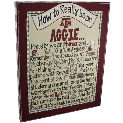 Texas A&M; How to really be an Aggie Canvas