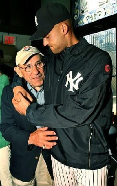 Derek Jeter #2 & Yogi #8;  Present and future Hall of Famers.