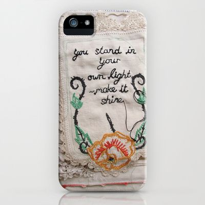 you stand in your own light, make it shine iPhone & iPod Case by dottie angel - $35.00