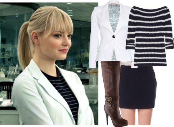 """Emma Stone as Gwen Stacy"" by hannahintheuk liked on ..."