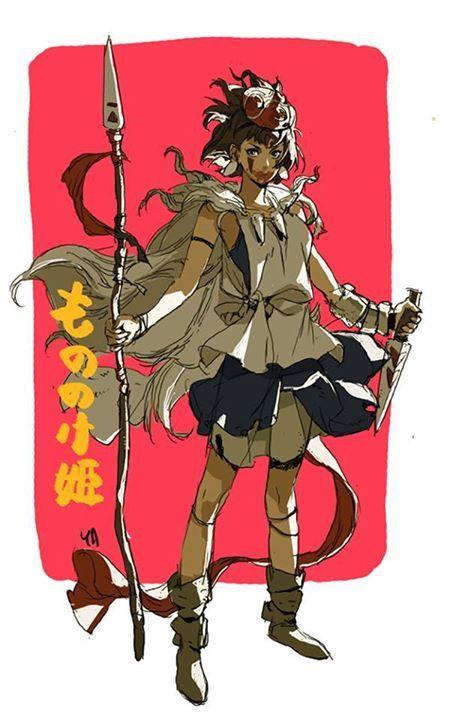 もののけ姫のサンのイラスト
