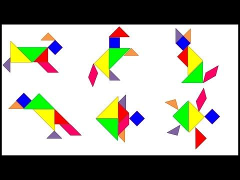 Animal Tangrams Vol 1 Youtube Legespiele Logik Ratsel Spiele