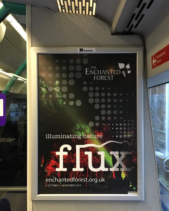 Another sighting of my photo being used to promote The Enchanted Forest :) This was on the train from Glasgow to Edinburgh today. #advert #enchantedforest #scotrail #glasgow #edinburgh #train #eventphotography #flux #scotland #bragging