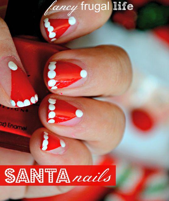 Santa Nail Art: 1000+ Ideas About Santa Hat Nails On Pinterest