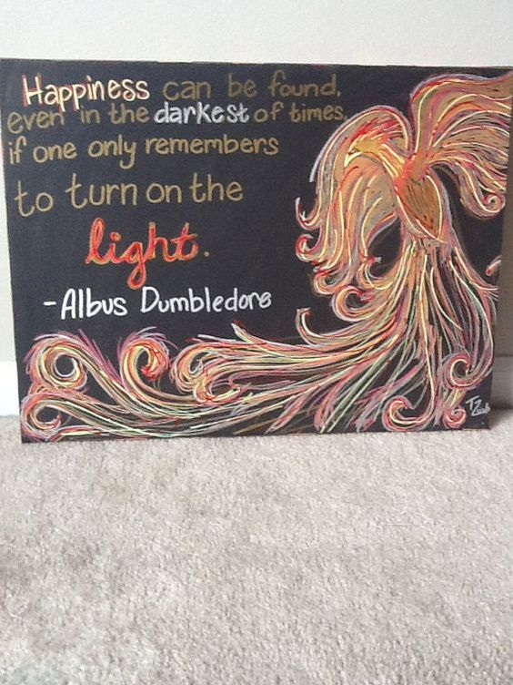 Harry Potter Phoenix Dumbledore Quote Canvas by CharmAndTradition, $50.00