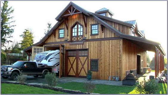 Barn with living quarters pole barns and barns on pinterest for Barn kits with living quarters