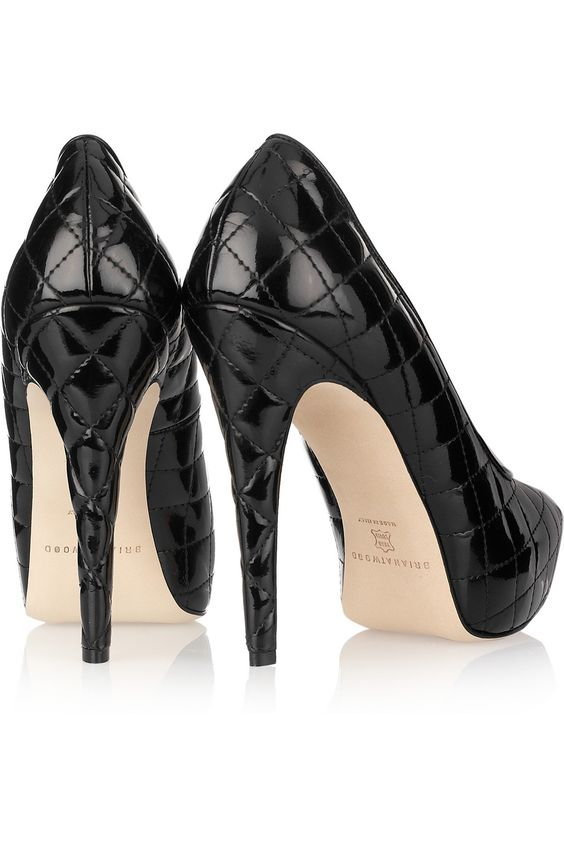 """quilted patent pumps...only if I want to be 6'5"""""""