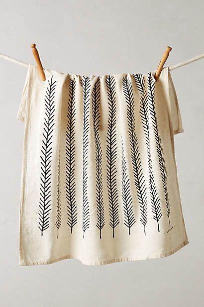 Linge à vaisselle Fringed Feathers
