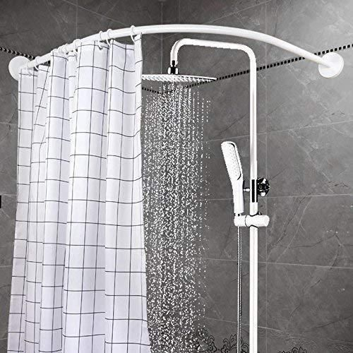 Details About 90 90cm Bathroom Aluminum Alloy Round Curved Bath Pole Shower Curtain Rail Rod Shower Rod Bathroom Shower Curtains Shower Curtain Rods