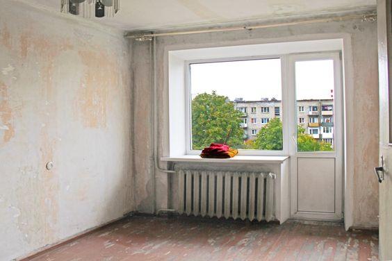 Общий вид комнаты и балкона