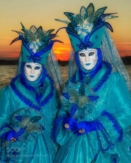 Venice-Carnival - #65 by steve-lange  italy venice carnival masks colorful costumes canals steve-lange