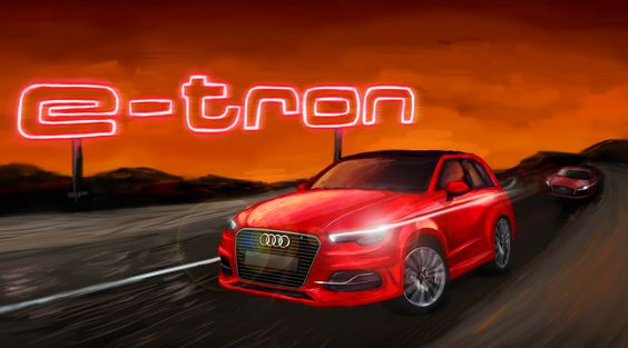 Audi A3 Etron Poster - 'Painting'