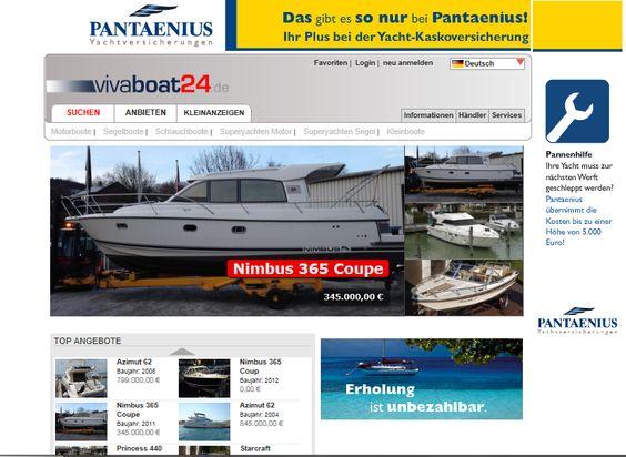 auf www.vivaboat24.de finden Sie neue und gebrauchte Motorboote, Segelboote zum Kauf. Das Inserieren von Booten, Trailern oder Motoren ist für Privatanbieter kostenlos. Gewerbliche Anbieter können Ihre Schiffe und Yachten zu interessanten Konditionen umfassend präsentieren.  Die Gebrauchtbootbörse vivaboat24.de gibt es in mehreren Sprachen. Das Angebot wird nicht nur in deutsch, sondern auch in englisch, französisch, spanisch, schwedisch, polnisch und niederländisch präsentiert.
