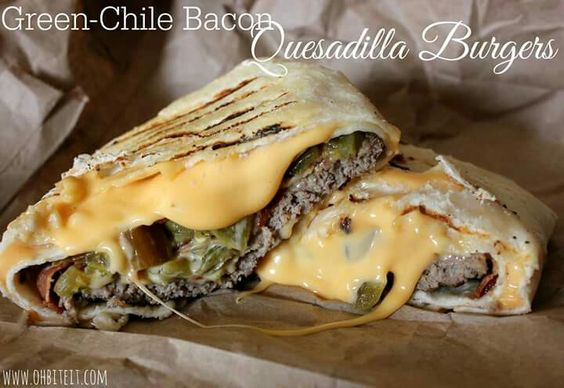 ... quesadillas green chilis chili chile green homemade tortillas bacon