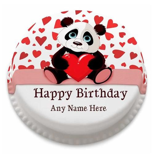 Write Name On Panda Birthday Cake With Name Edit Latest Panda