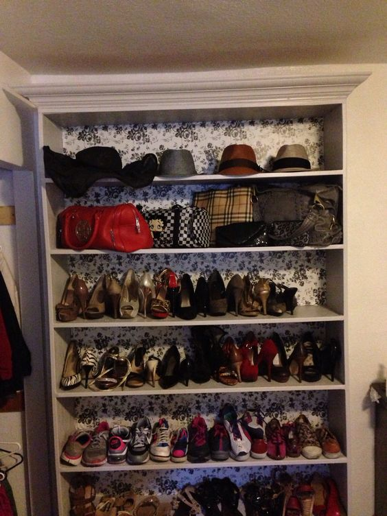 Nice No Closet Space No Problem! Custom Built Shoe Display DIY