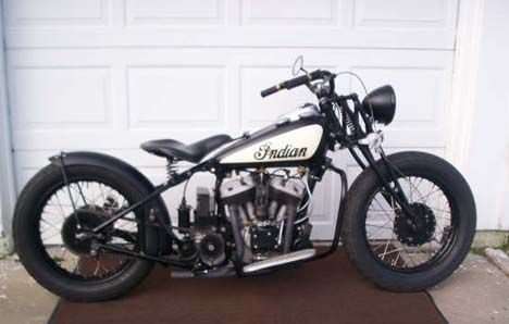 Photo Of 1936 Scout Indian Bobber With 750cc V Twin Flathead Engine