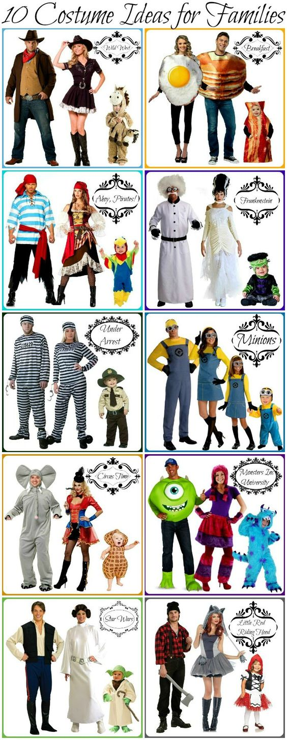 Look at all these themes! Of course these ideas can have costumes added or subtracted depending on the size of your bunch :)