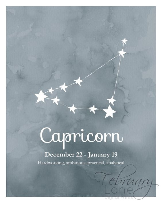 Capricorne du zodiaque Constellation sticker par FebruaryLane