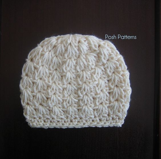 Free Crochet Pattern For Cluster Beanie : Crochet PATTERN - Cluster Shells Crochet Hat Pattern ...