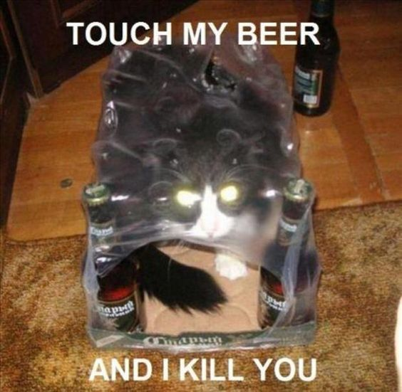 don't touch my beer of i...
