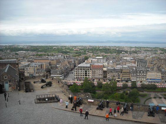 View of Edinburgh from atop Edinburgh Castle.