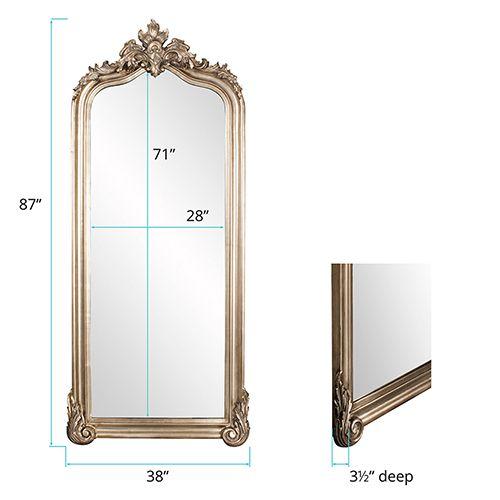 Howard Elliott Collection Tudor Silver Floor Mirror 53073 Bellacor In 2021