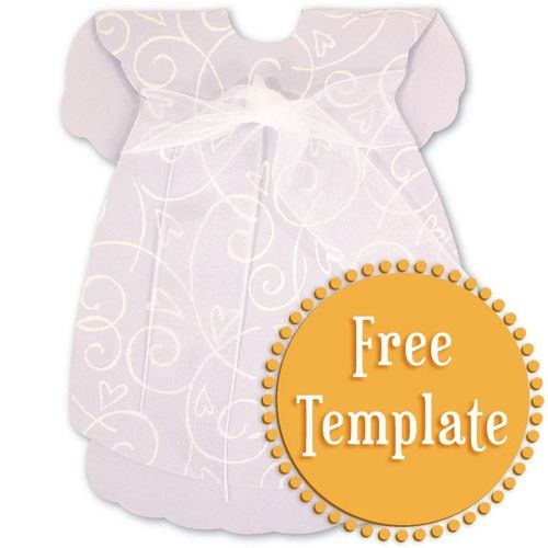 Darling Dress Template Dress Templates Baby Girl Cards Shaped Cards