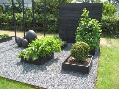Svarta pallkragar och grus   KöksträdgÃ¥rd   Gardening   Pinterest ... : trädgård pallkrage : Trädgård