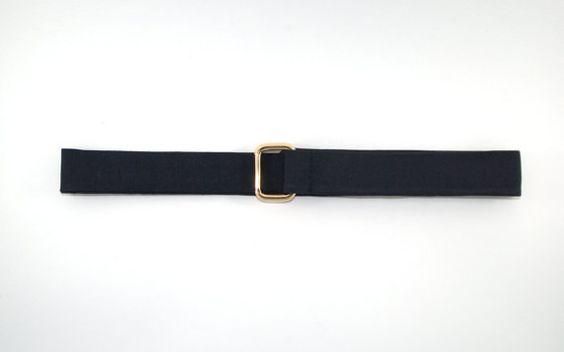 Ceinture tissu chevrons bleus, ceinture pour homme, boucles dorées, ceinture…