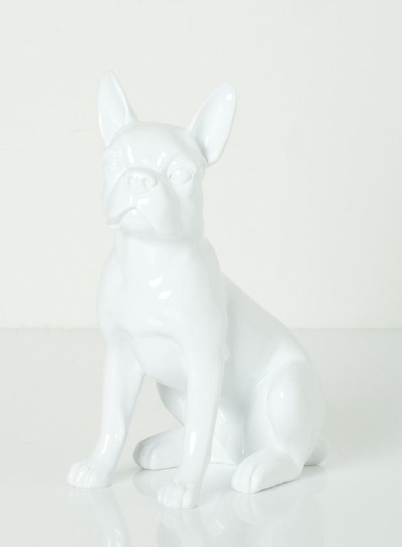 White Resin Dog Sculpture - decorative accessories - For The Home - BHS