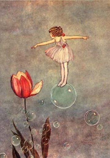 Delicate Floating Bubble Fairy