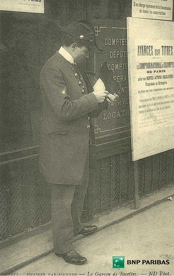 Le garçon de recettes encaisse les effets de commerce, 1870 #Guidedesmetiers