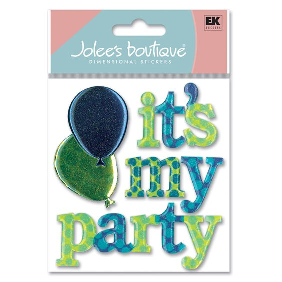 Jolee's Boutique® | It's My Party Word Stickers  $4.39  **