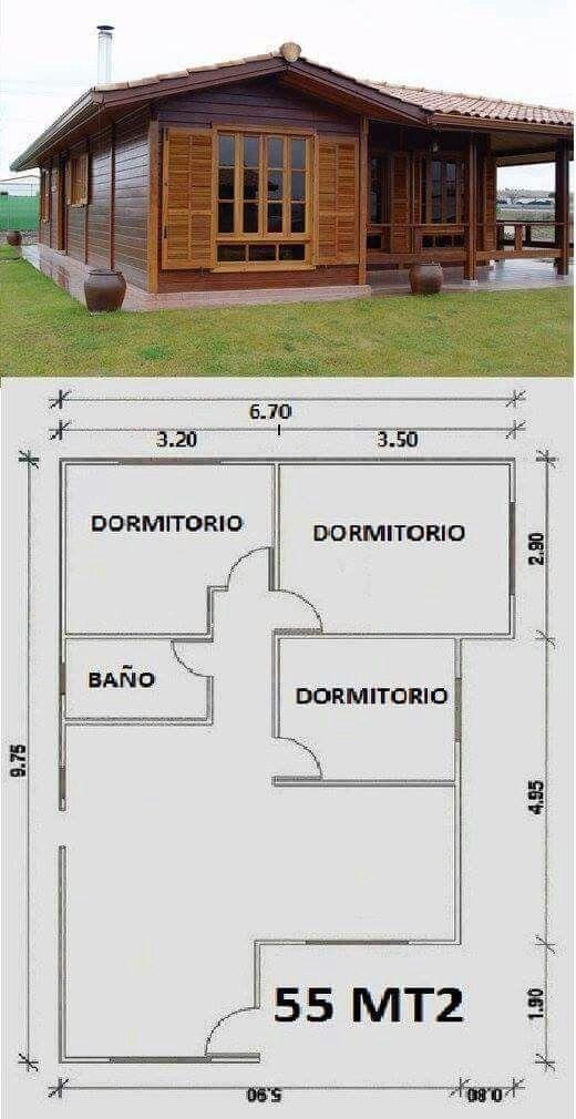 Diseno De Casa De Campo Pequena Con Moderna Estructura De Madera Planos De Casas Casas De Campo Pequenas Modelos De Casas Prefabricadas