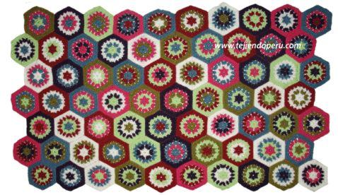 Tutorial: manta con pastillas hexagonales tejidas a crochet (granny hexagon)