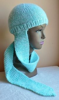 Hat with attached Scarf - Free Knit Pattern from Head Huggers head hugger ...