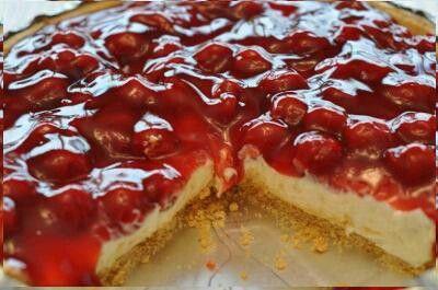 Cherry leamon cheescake pie