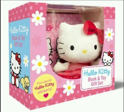Hello #kitty gift set - soft toy & book plus special #hello #kitty #stickers,  View more on the LINK: http://www.zeppy.io/product/gb/2/322224547040/