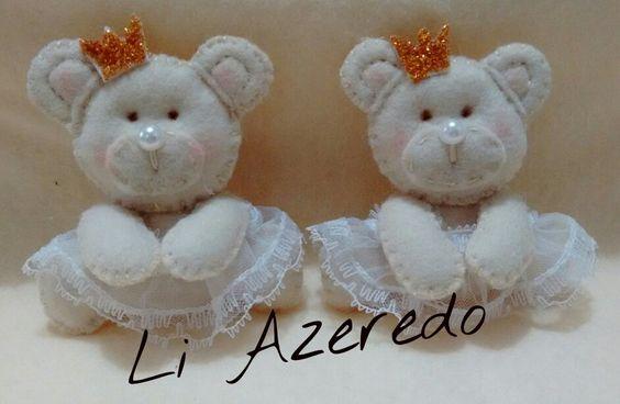 Mini Ursinhos de feltro