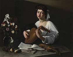 Caravaggio Le joueur de luth (2° version) 1596